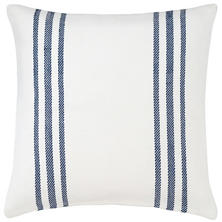 Cape Stripe White/Navy Indoor/Outdoor Pillow