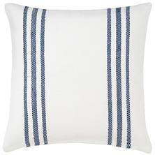 Stripe Flower Navy Light Blue Indoor Outdoor Pillow