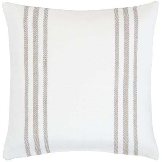 Cape Stripe White/Platinum Indoor/Outdoor Pillow