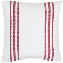 Lexington White/Red Indoor/Outdoor Pillow