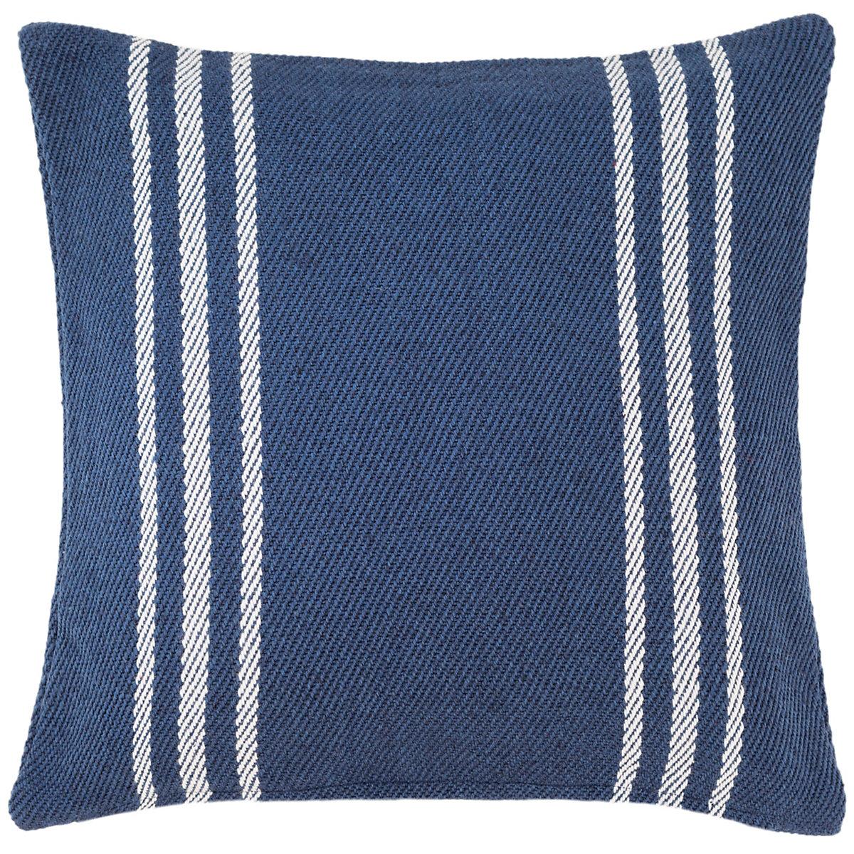 Cape Stripe Navywhite Indooroutdoor Pillow Fresh American