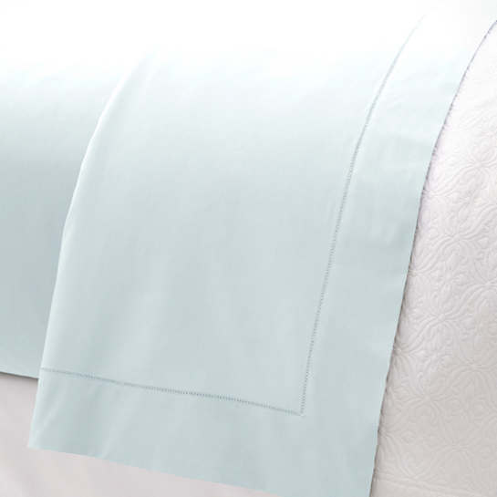 Lia Pearl Blue Fitted Sheet