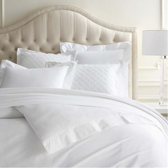Lia White Duvet Cover