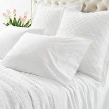 Lia White Pillowcases