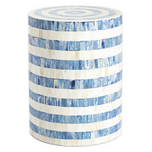 Light Blue Bone Inlay Stool