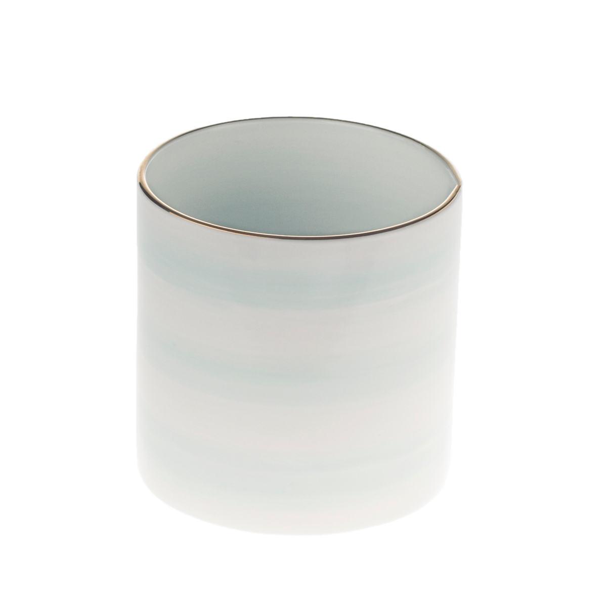 Light Papago Speedy Stripe Peony Cylinder Vase