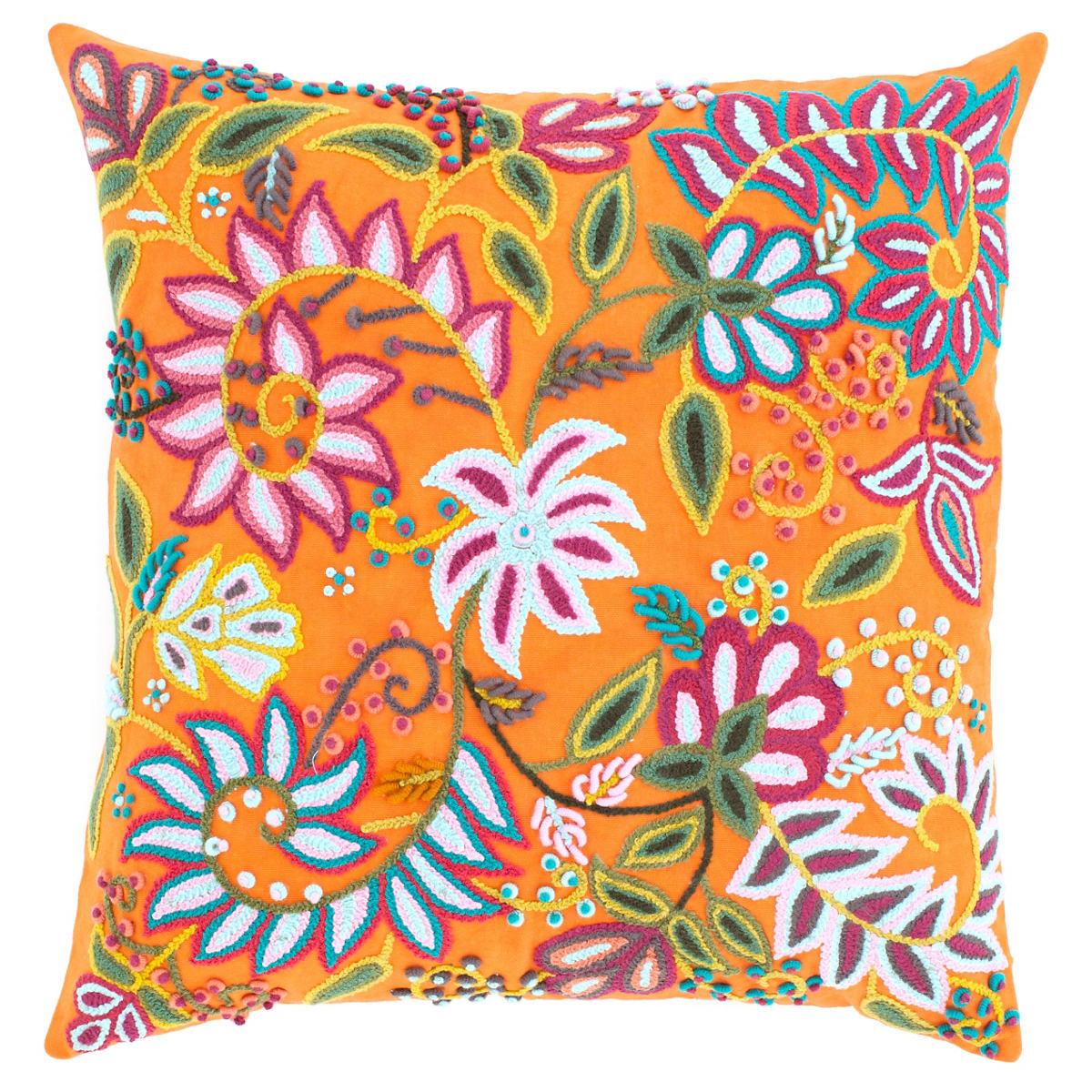 Lima Orange Decorative Pillow