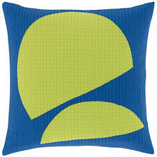Lime Slices Quilted  Decorative Pillow