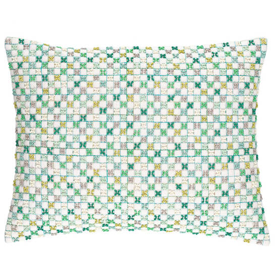 Linden Embroidered Decorative Pillow