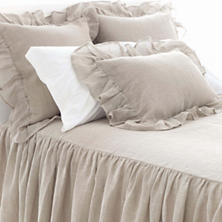 Linen Mesh Natural Bedspread