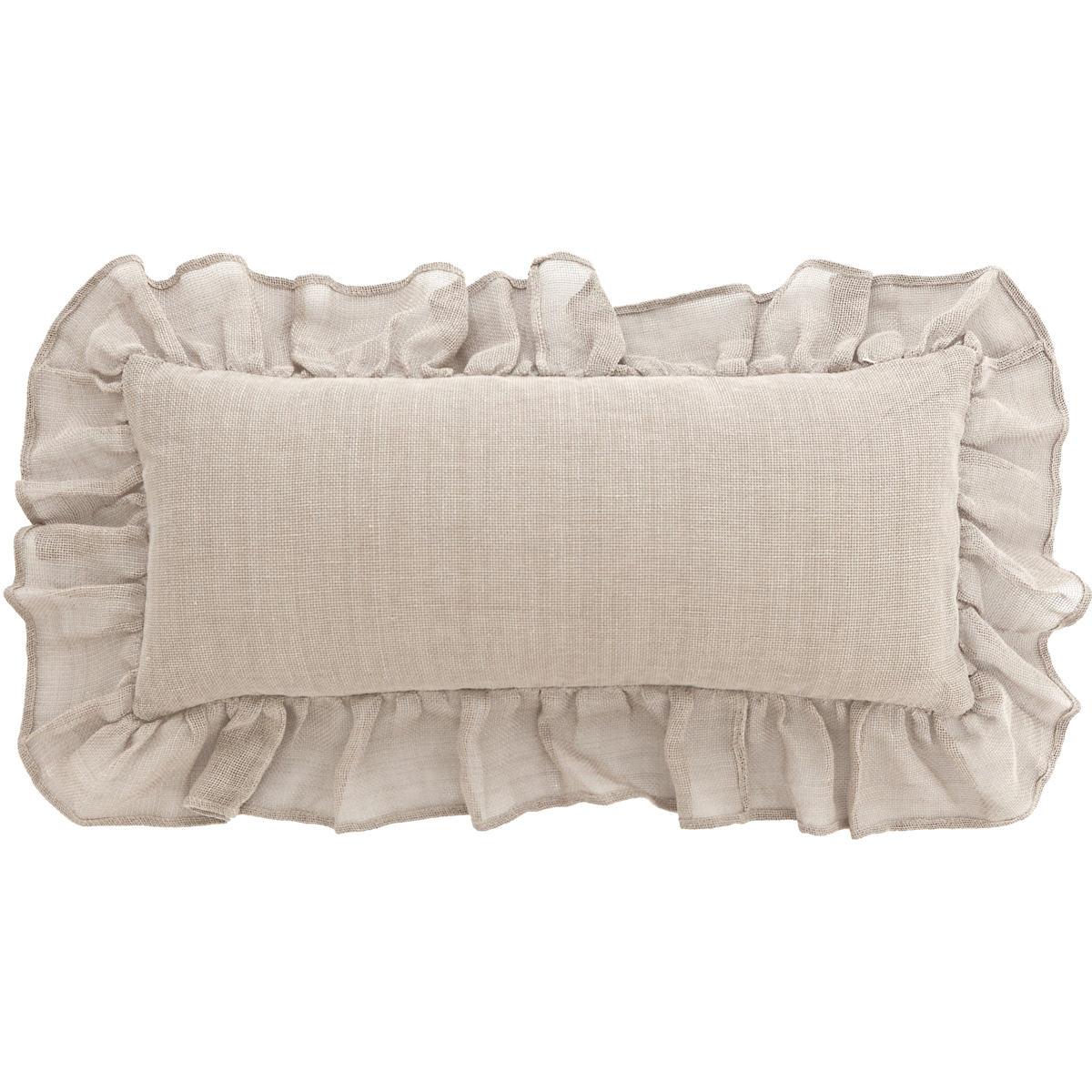 Linen Mesh Natural Decorative Pillow