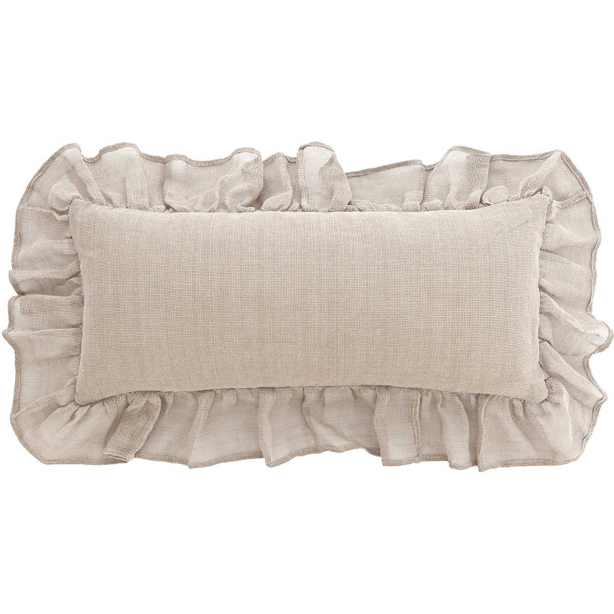 Linen Mesh Natural Decorative Pillow Pine Cone Hill