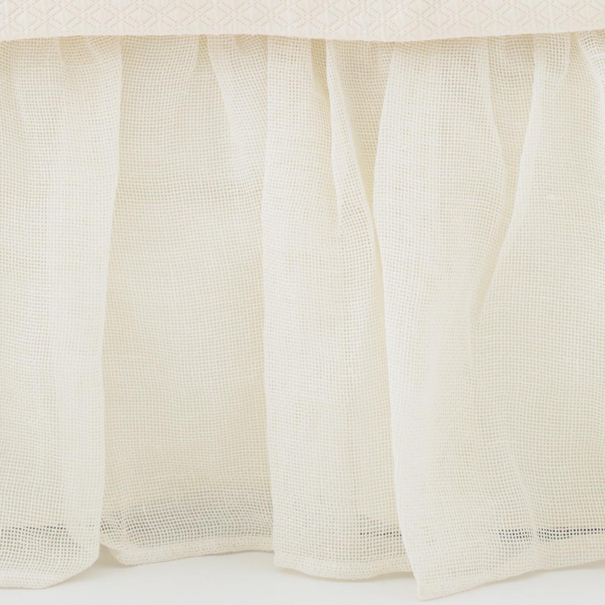 Linen Mesh Ivory Bed Skirt
