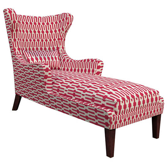 Links Fuchsia Mirage Tobacco Chaise