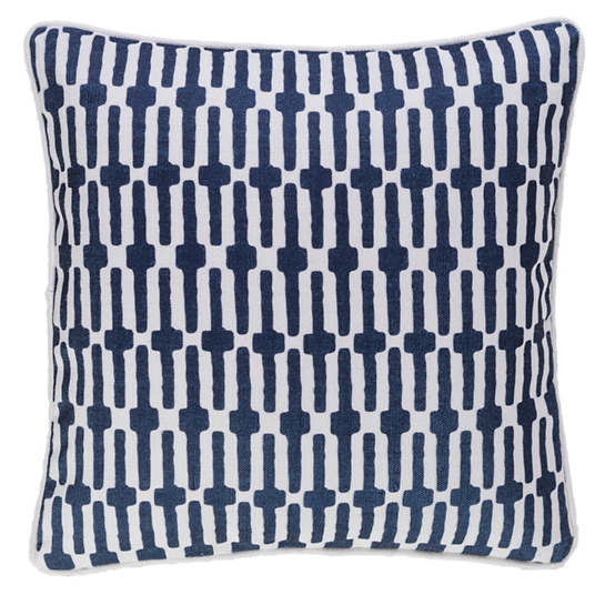 Links Navy Indoor/Outdoor Decorative Pillow