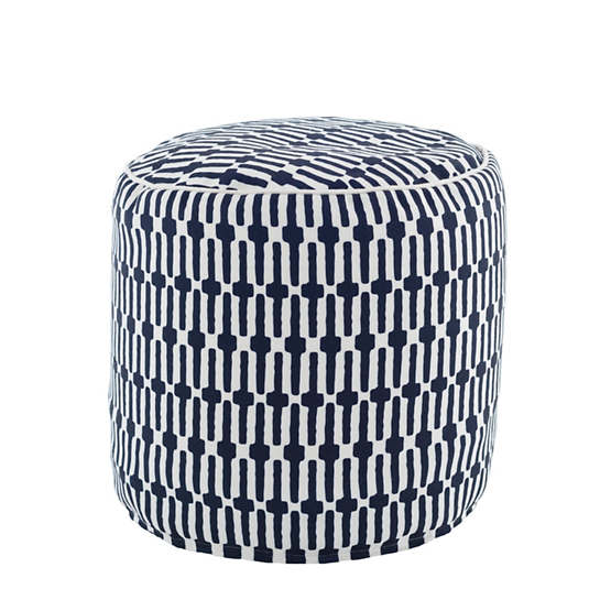 Links Navy Indoor/Outdoor Pouf