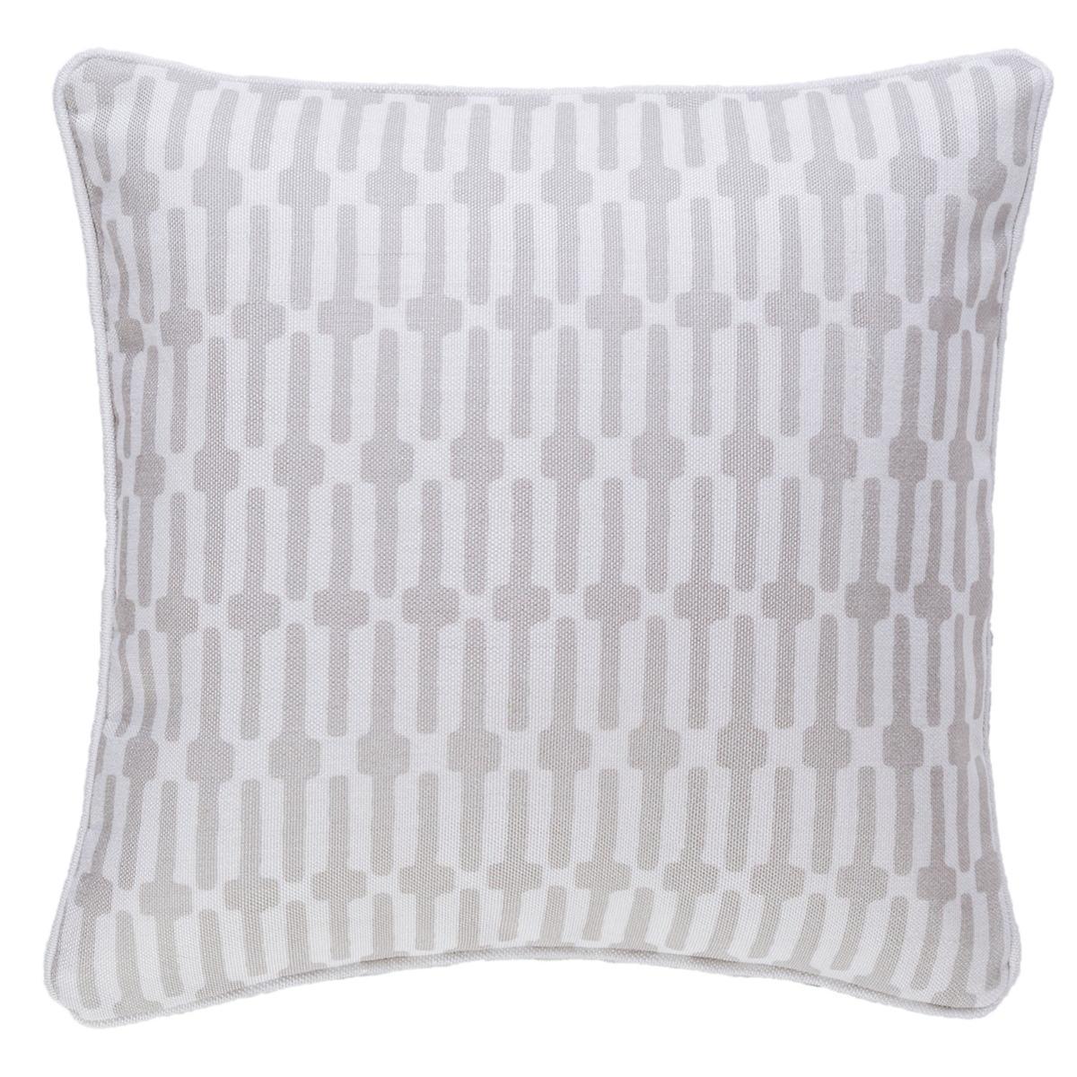 Links Pearl Grey Indoor/Outdoor Decorative Pillow
