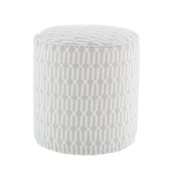 Links Pearl Grey Indoor/Outdoor Pouf