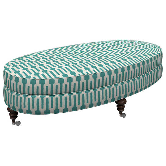 Links Turquoise Kendall Ottoman