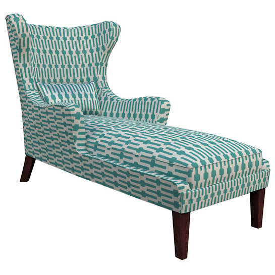 Links Turquoise Mirage Tobacco Chaise