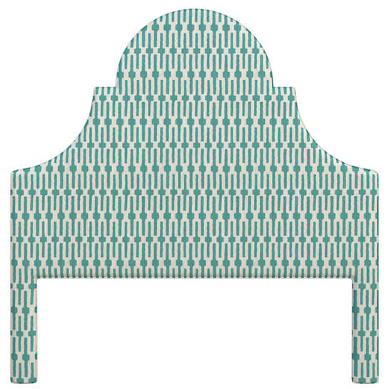 Links Turquoise Montaigne Headboard