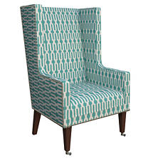 Links Turquoise Neo-Wing Chair