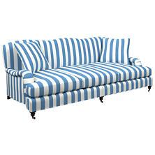 Alex French Blue Litchfield 3 Seater Sofa