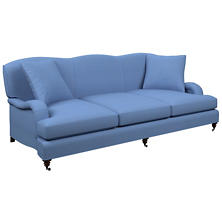 Estate Linen French Blue Litchfield 3 Seater Sofa