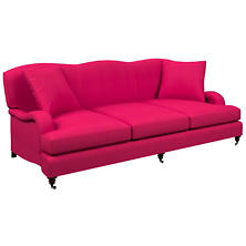 Estate Linen Fuchsia Litchfield 3 Seater Sofa
