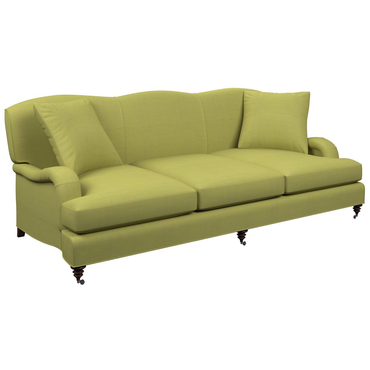 Estate Linen Green Litchfield 3 Seater Sofa