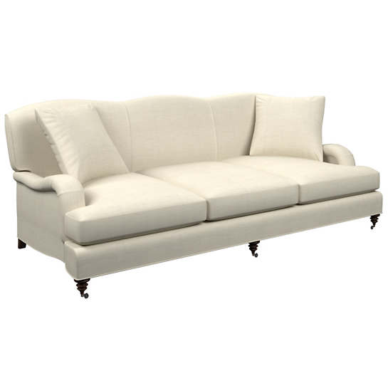 Estate Linen Pearl Grey Litchfield 3 Seater Sofa