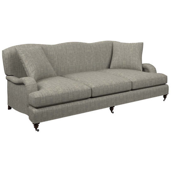 Chevron Indigo Litchfield 3 Seater Sofa