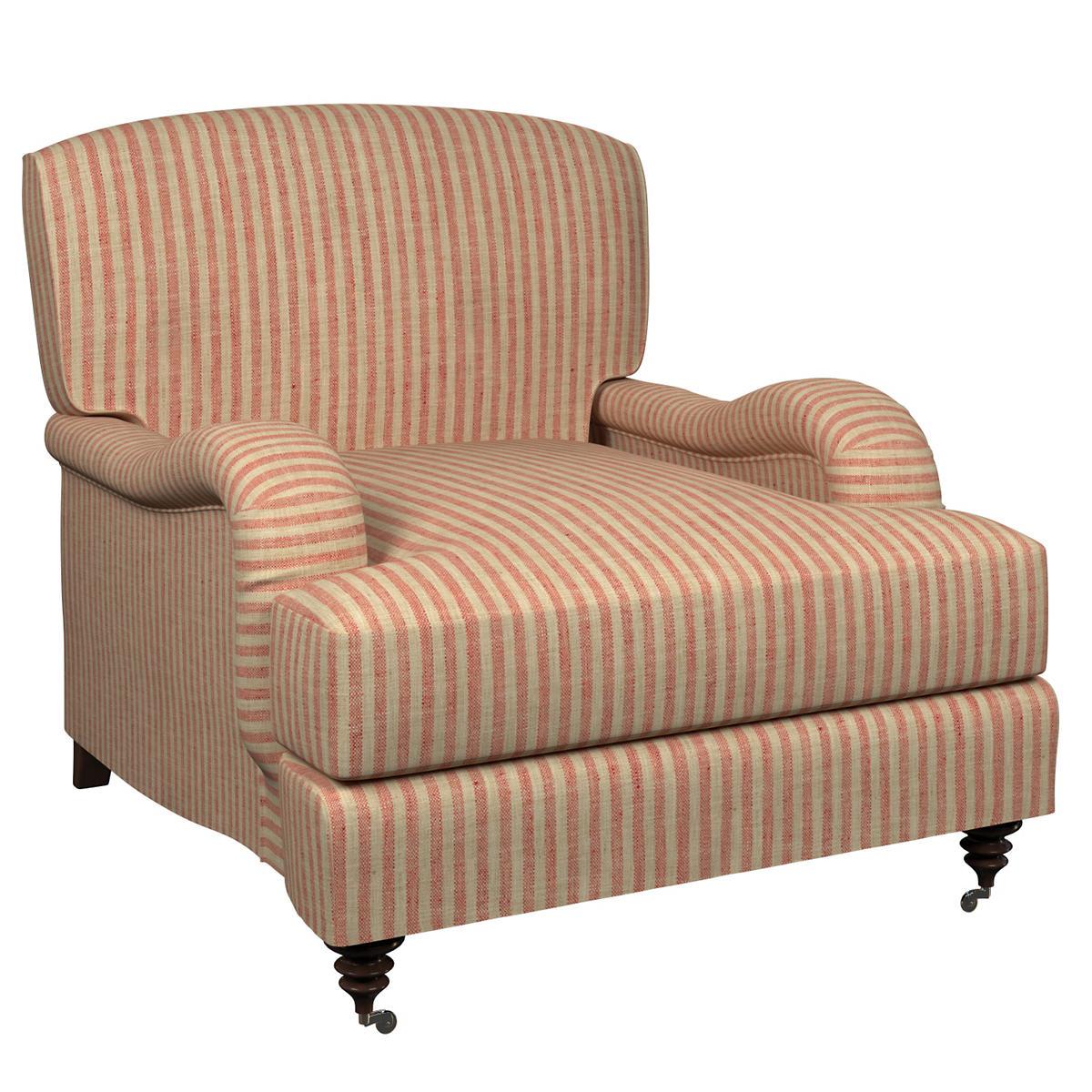 Adams Ticking Brick Litchfield Chair