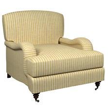 Adams Ticking Gold Litchfield Chair