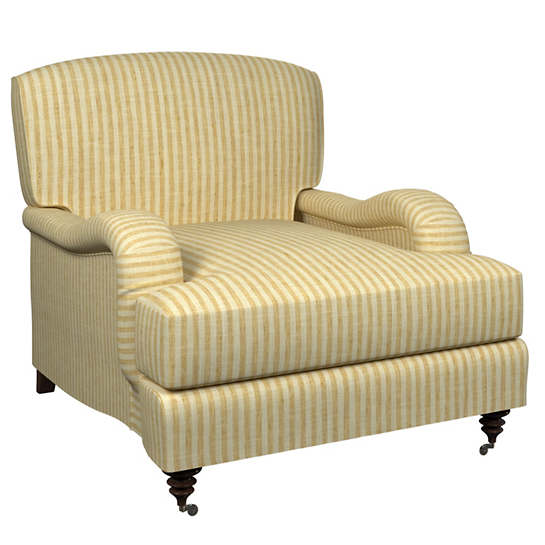 Adams Ticking Gold Litchfield Chair