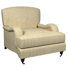 Adams Ticking Natural Litchfield Chair