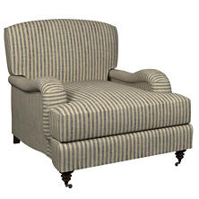 Adams Ticking Navy Litchfield Chair