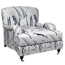 Brushstroke White/Indigo Litchfield Chair