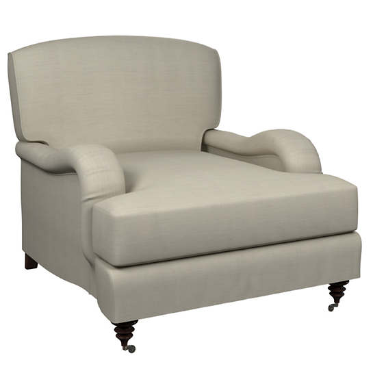 Estate Linen Pearl Grey Litchfield Chair