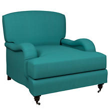 Estate Linen Turquoise Litchfield Chair