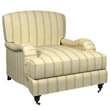 Glendale Stripe Gold/Natural Litchfield Chair