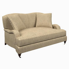 Adams Ticking Brown Litchfield Loveseat
