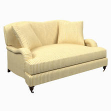 Adams Ticking Gold Litchfield Loveseat