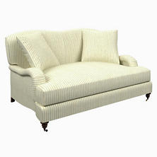 Adams Ticking Light Blue Litchfield Loveseat