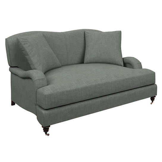 Canvasuede Ocean Litchfield Loveseat
