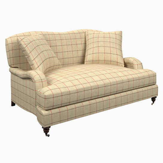 Chatham Tattersall Brick/Brown Litchfield Loveseat