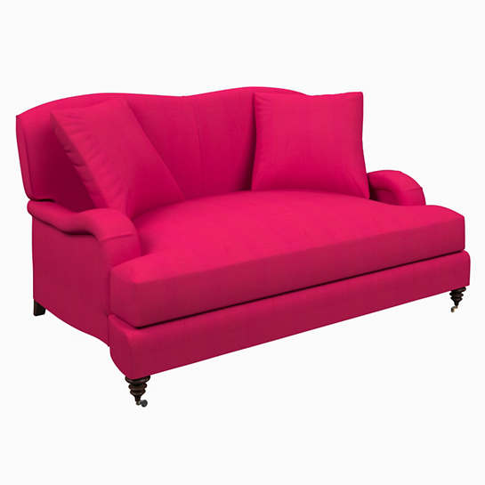 Estate Linen Fuchsia Litchfield Loveseat