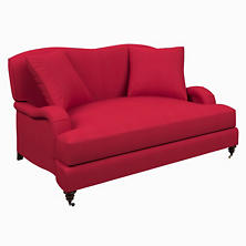 Estate Linen Red Litchfield Loveseat