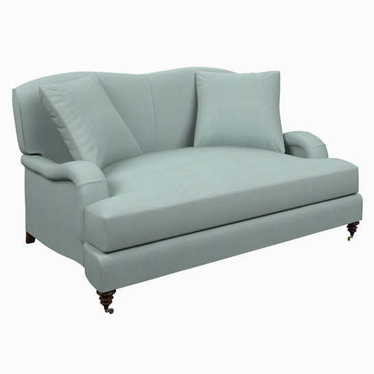 Estate Linen Sky Litchfield Loveseat