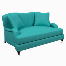 Estate Linen Turquoise Litchfield Loveseat